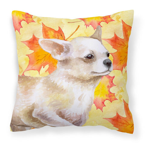 Buy this Chihuahua Leg up Fall Fabric Decorative Pillow BB9958PW1818