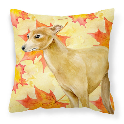 Buy this Italian Greyhound Fall Fabric Decorative Pillow BB9959PW1818