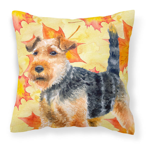 Buy this Welsh Terrier Fall Fabric Decorative Pillow BB9961PW1818