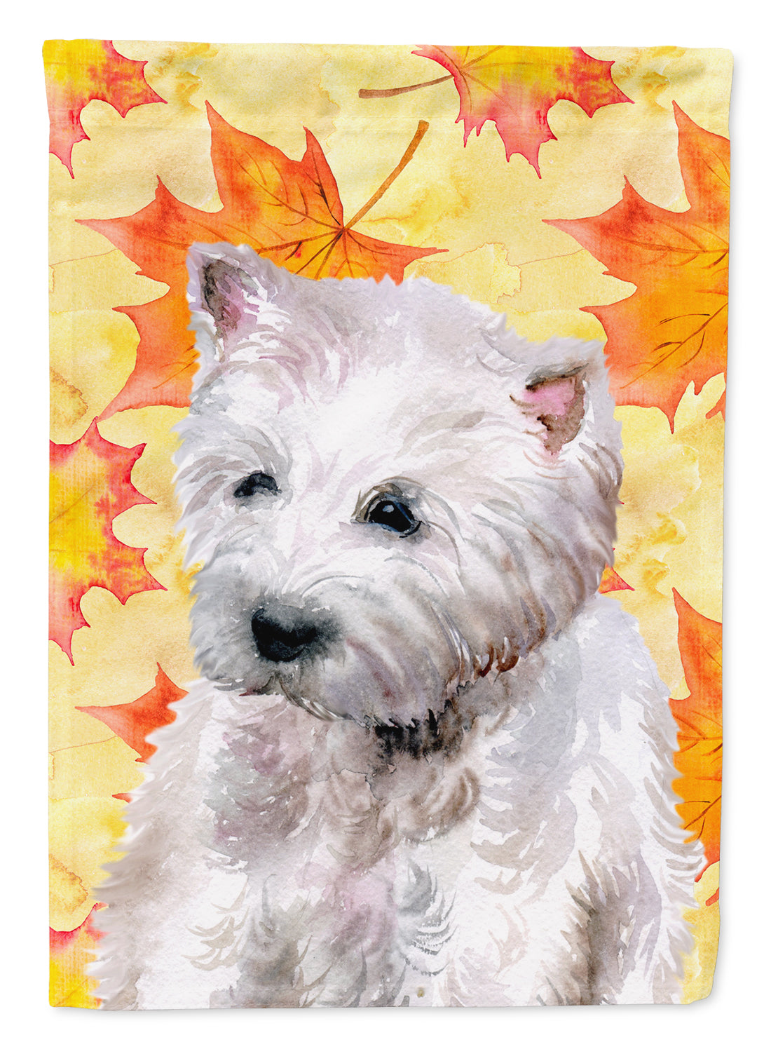 Westie Fall Flag Canvas House Size BB9962CHF by Caroline's Treasures