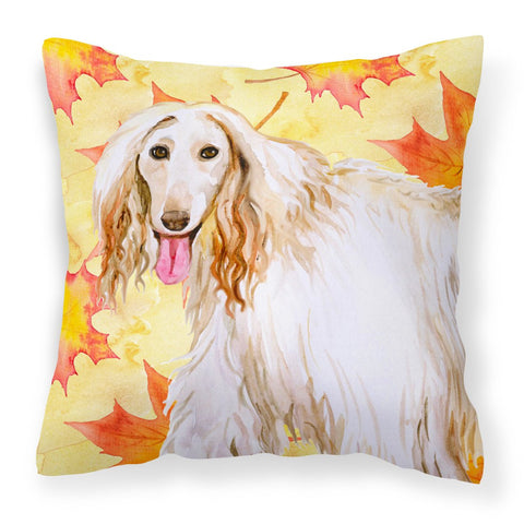 Buy this Afghan Hound Fall Fabric Decorative Pillow BB9963PW1818