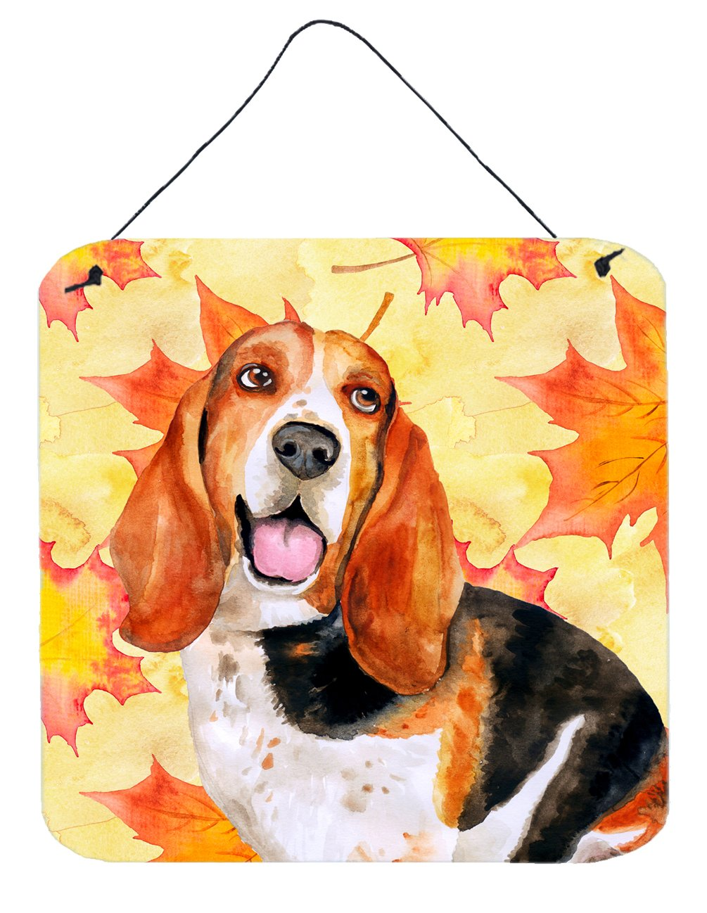 Buy this Basset Hound Fall Wall or Door Hanging Prints BB9965DS66