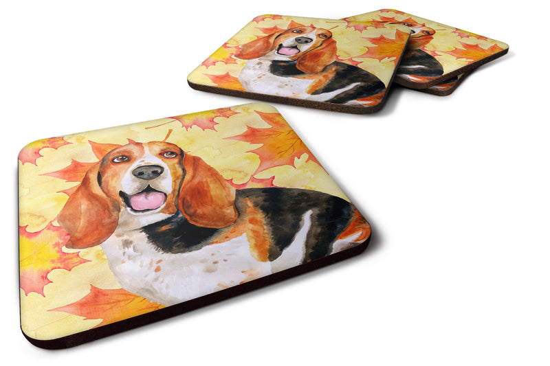 Buy this Basset Hound Fall Foam Coaster Set of 4 BB9965FC