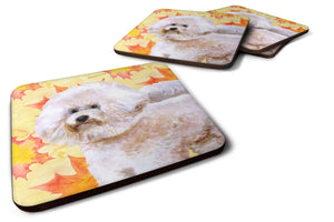 Buy this Set of 4 Bichon Frise #2 Fall Foam Coasters Set of 4