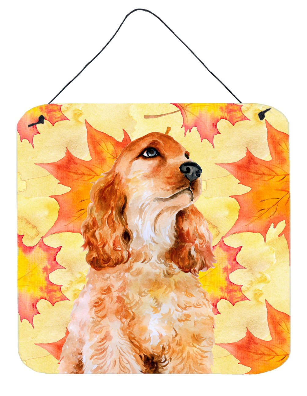 Buy this Cocker Spaniel Fall Wall or Door Hanging Prints BB9967DS66