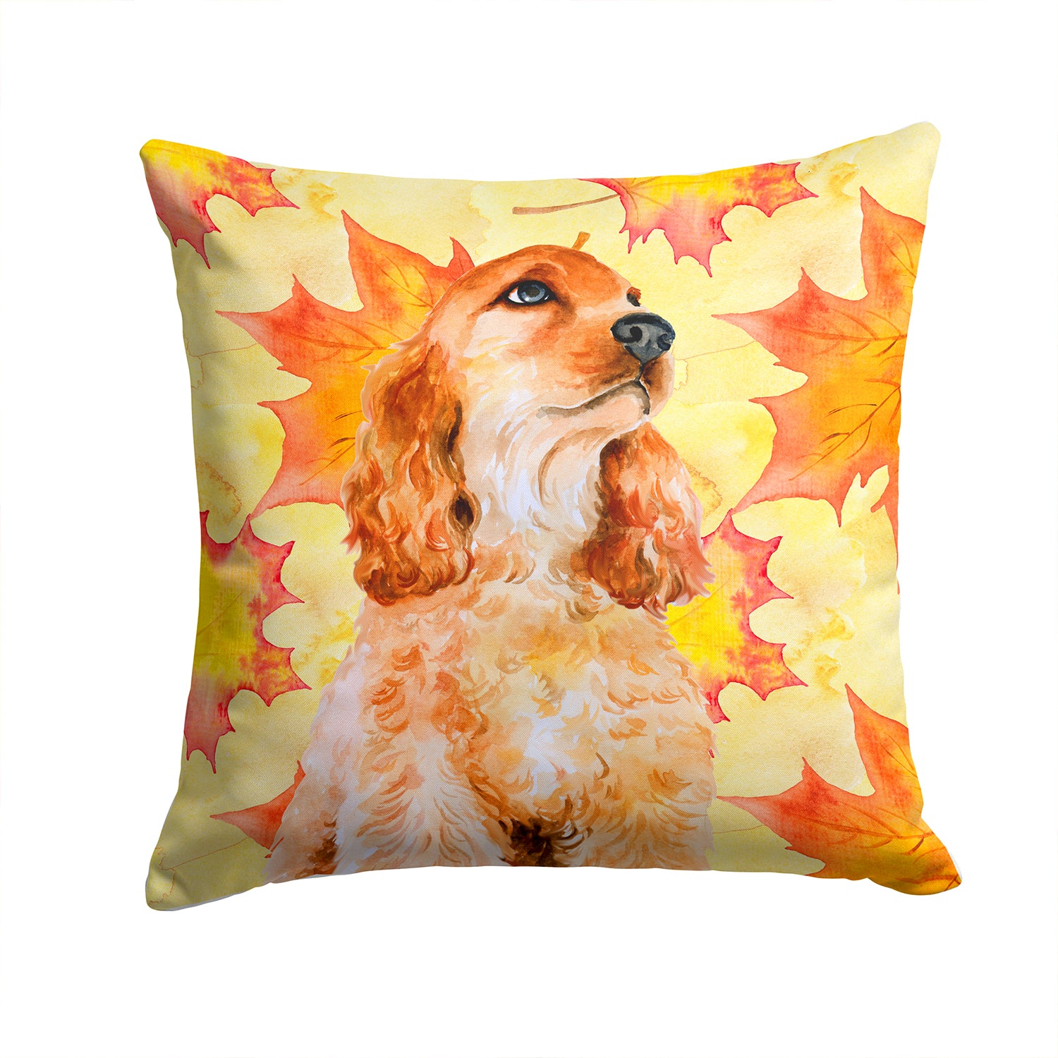Buy this Cocker Spaniel Fall Fabric Decorative Pillow BB9967PW1414