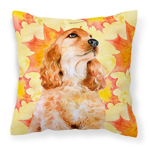 Buy this Cocker Spaniel Fall Fabric Decorative Pillow BB9967PW1818