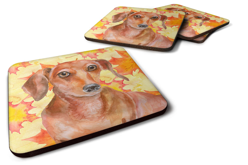 Buy this Red Dachshund Fall Foam Coaster Set of 4 BB9968FC
