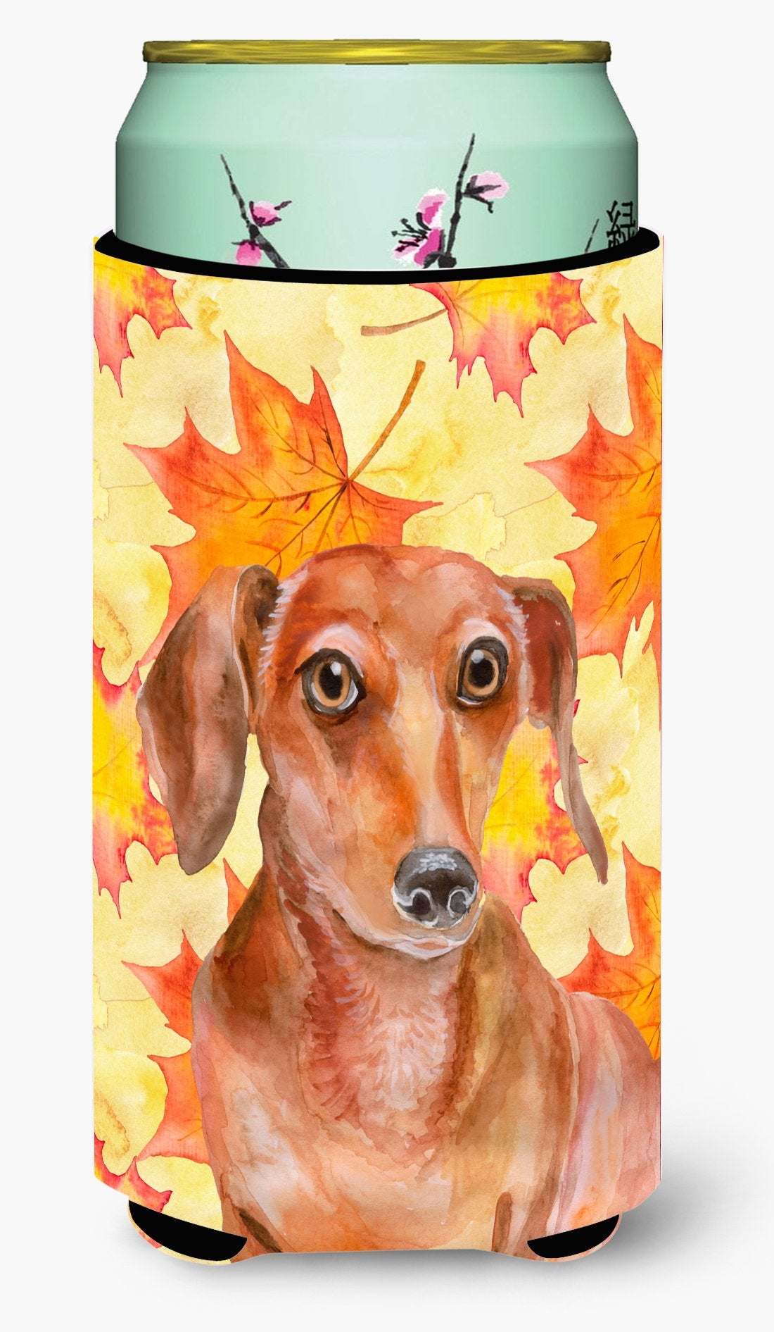 Red Dachshund Fall Tall Boy Beverage Insulator Hugger BB9968TBC by Caroline's Treasures