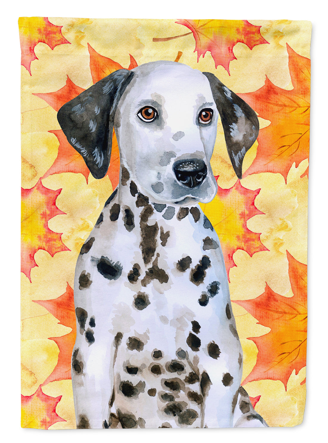 Dalmatian Puppy Fall Flag Canvas House Size BB9969CHF by Caroline's Treasures