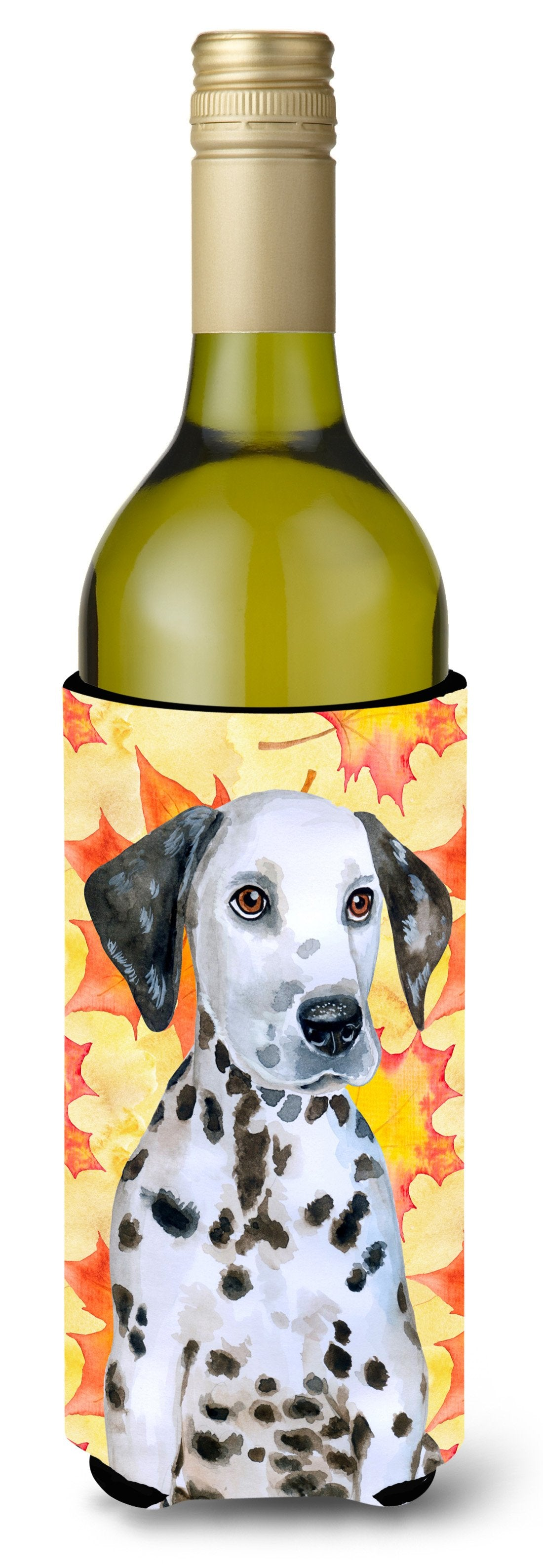 Dalmatian Puppy Fall Wine Bottle Beverge Insulator Hugger BB9969LITERK by Caroline's Treasures