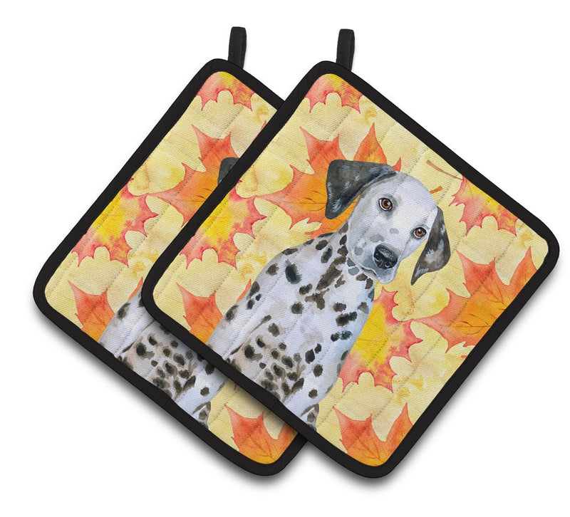 Buy this Dalmatian Puppy Fall Pair of Pot Holders BB9969PTHD
