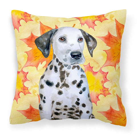 Buy this Dalmatian Puppy Fall Fabric Decorative Pillow BB9969PW1818