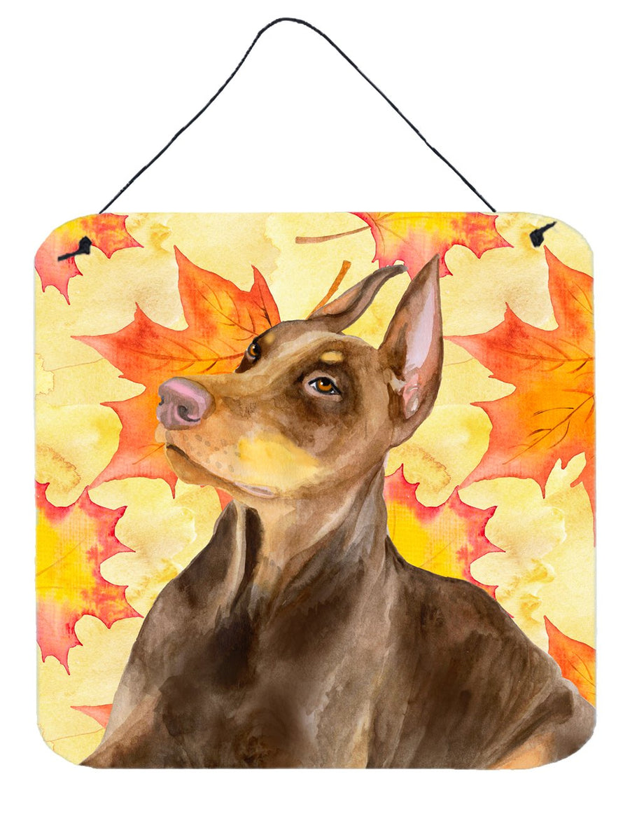 Buy this Doberman Pinscher Fall Wall or Door Hanging Prints BB9970DS66