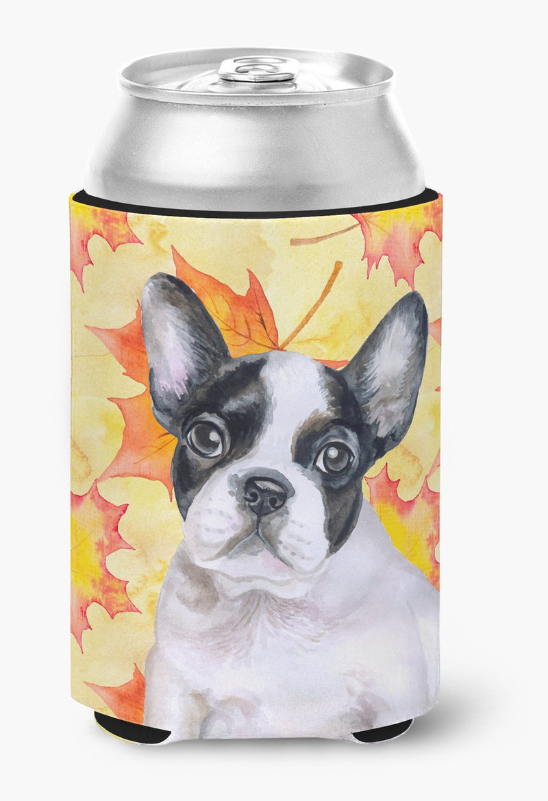 Buy this French Bulldog Black White Fall Can or Bottle Hugger BB9971CC
