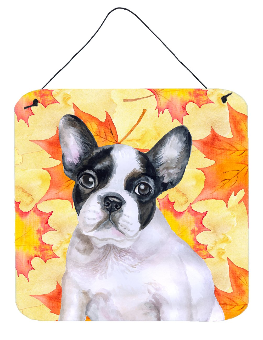 Buy this French Bulldog Black White Fall Wall or Door Hanging Prints BB9971DS66