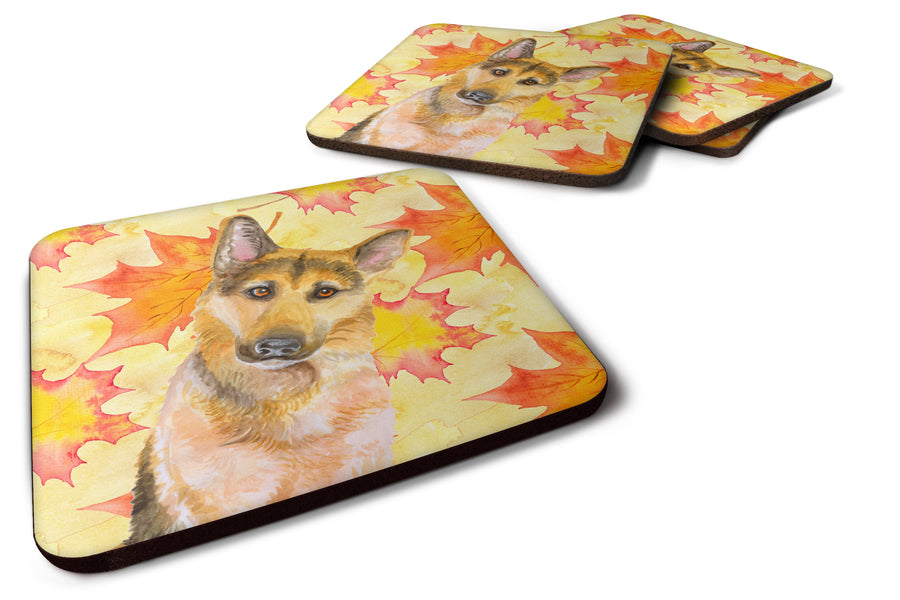 Buy this German Shepherd #2 Fall Foam Coaster Set of 4 BB9972FC