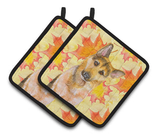 Buy this German Shepherd #2 Fall Pair of Pot Holders BB9972PTHD