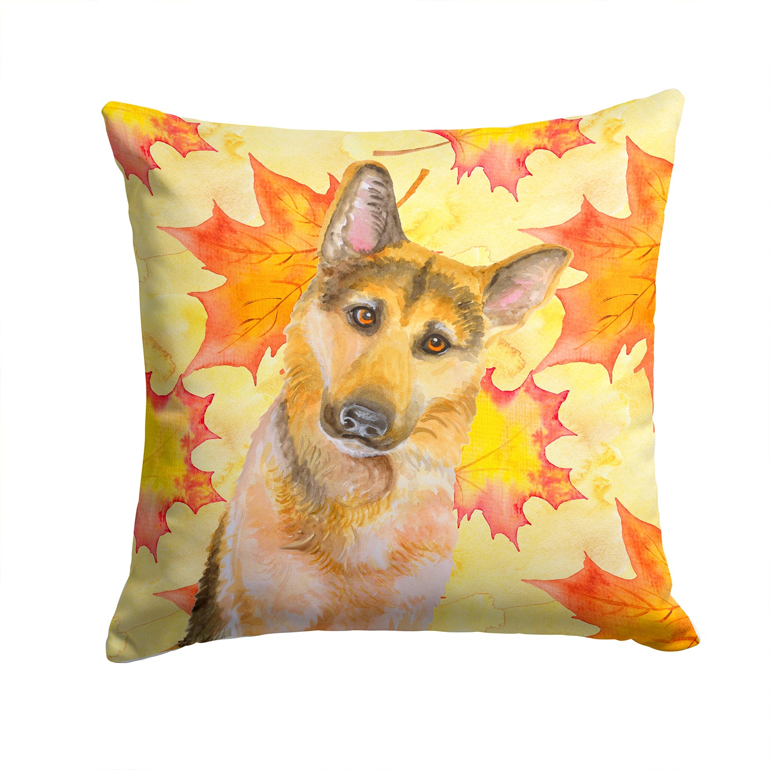 Buy this German Shepherd #2 Fall Fabric Decorative Pillow BB9972PW1414