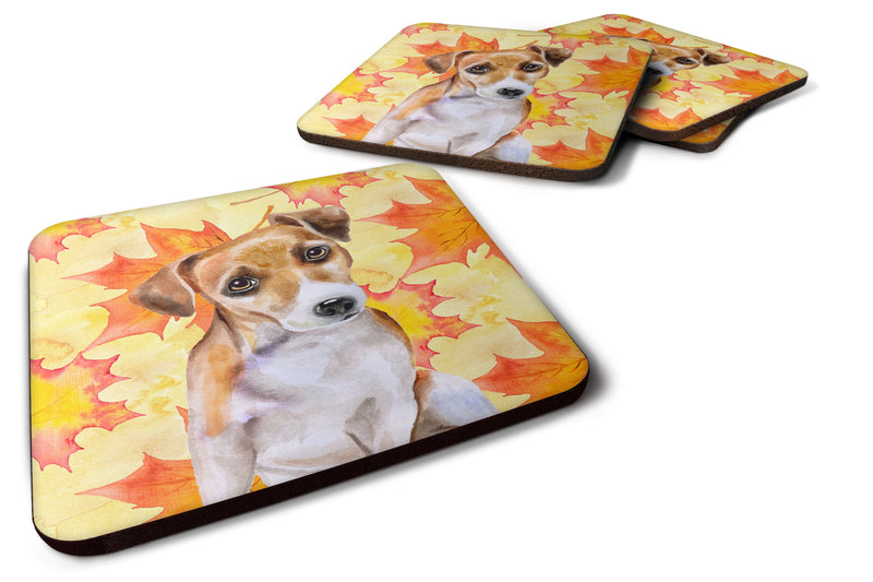 Buy this Jack Russell Terrier #2 Fall Foam Coaster Set of 4 BB9974FC