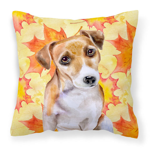 Buy this Jack Russell Terrier #2 Fall Fabric Decorative Pillow BB9974PW1818