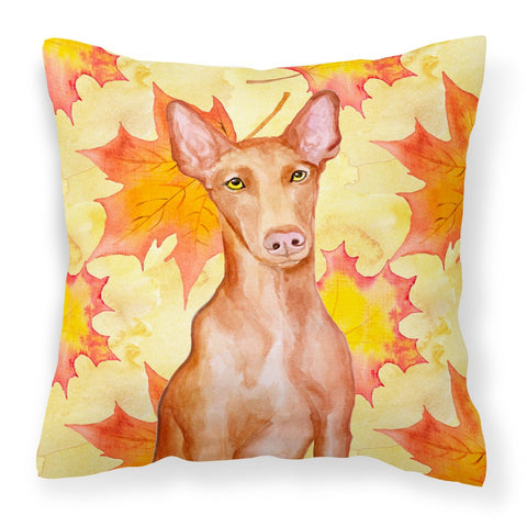 Buy this Pharaoh Hound Fall Fabric Decorative Pillow BB9976PW1818