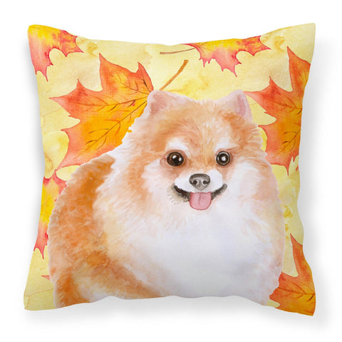 Buy this Pomeranian #2 Fall Fabric Decorative Pillow BB9977PW1818