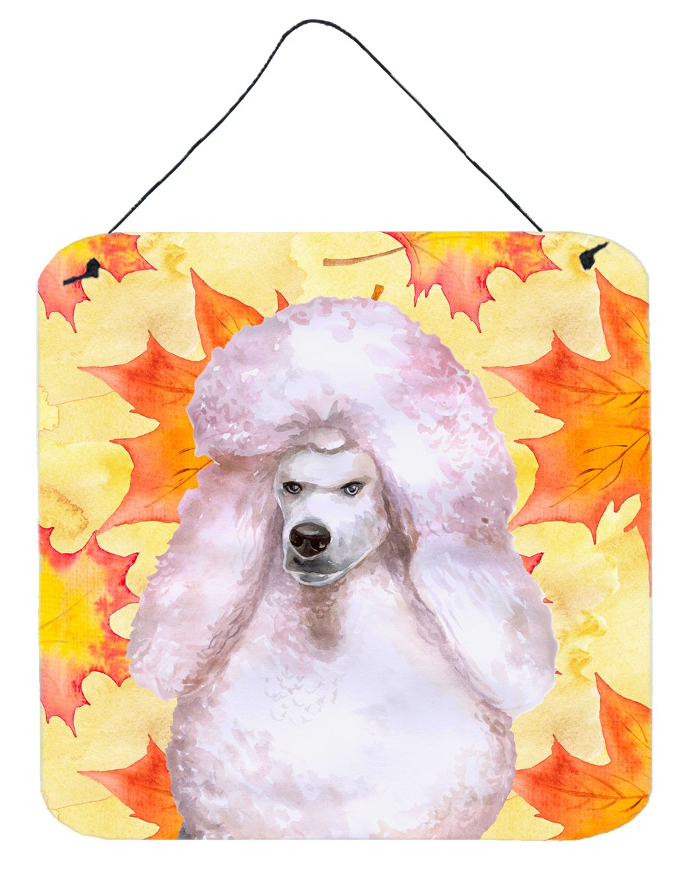 Buy this White Standard Poodle Fall Wall or Door Hanging Prints BB9978DS66