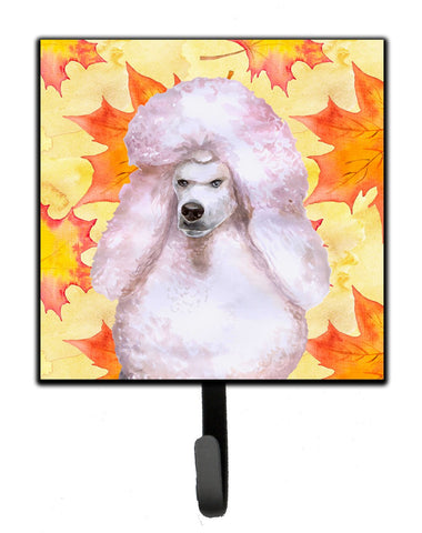 Buy this White Standard Poodle Fall Leash or Key Holder BB9978SH4