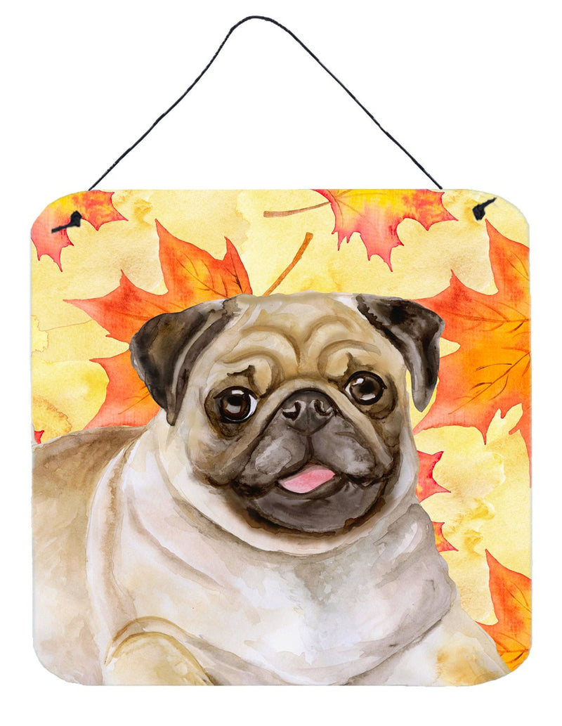 Buy this Fawn Pug Fall Wall or Door Hanging Prints BB9979DS66