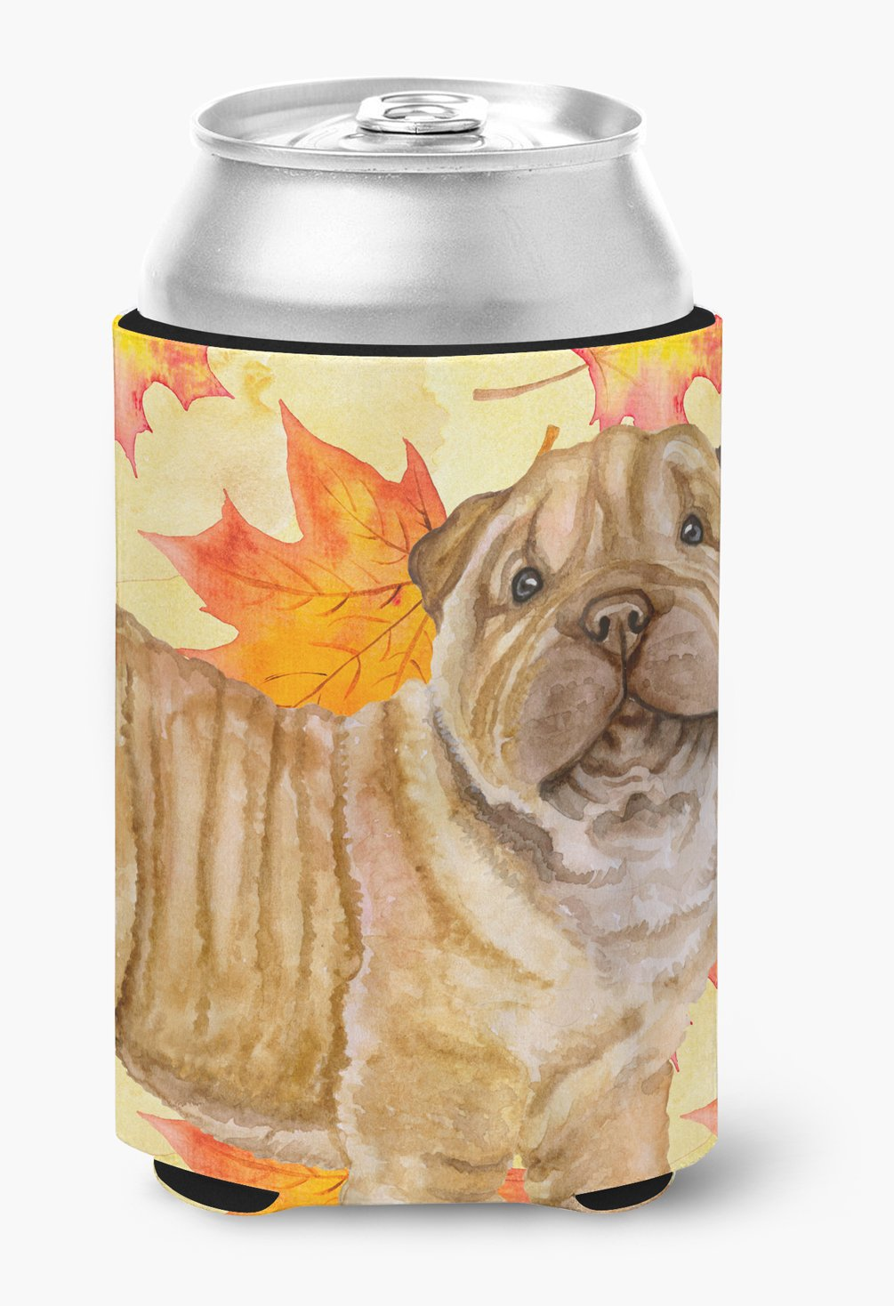 Buy this Shar Pei Puppy Fall Can or Bottle Hugger BB9980CC