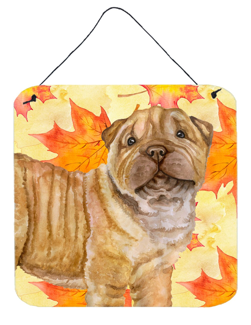 Buy this Shar Pei Puppy Fall Wall or Door Hanging Prints BB9980DS66