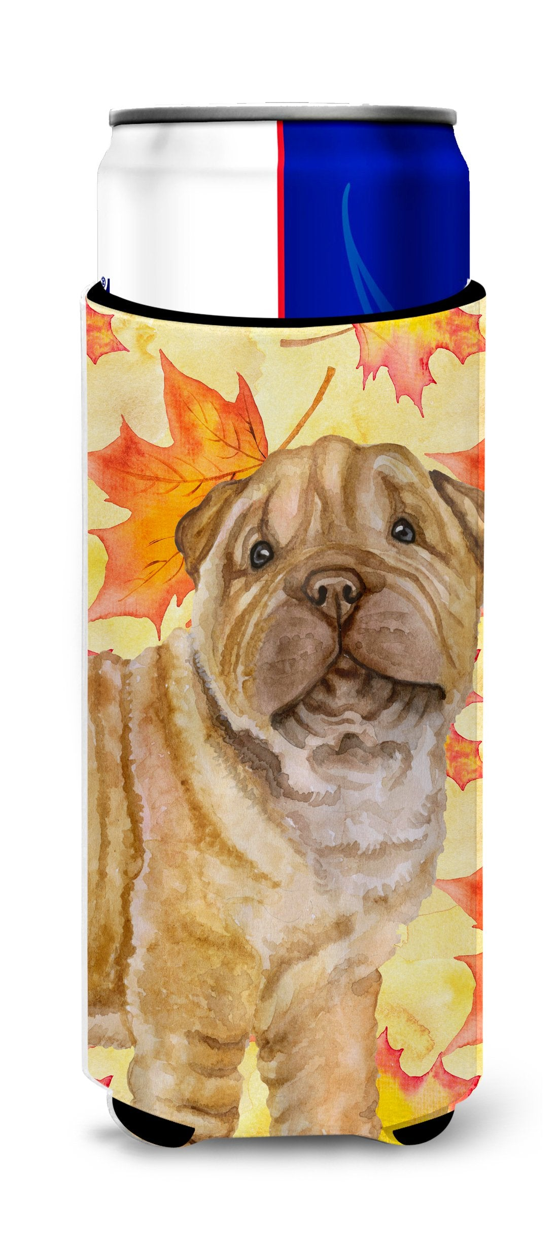 Shar Pei Puppy Fall Michelob Ultra Hugger for slim cans BB9980MUK by Caroline's Treasures