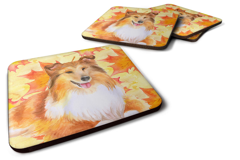 Buy this Sheltie Fall Foam Coaster Set of 4 BB9981FC