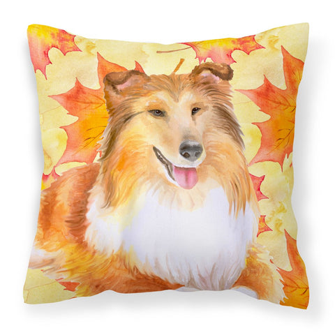 Buy this Sheltie Fall Fabric Decorative Pillow BB9981PW1818