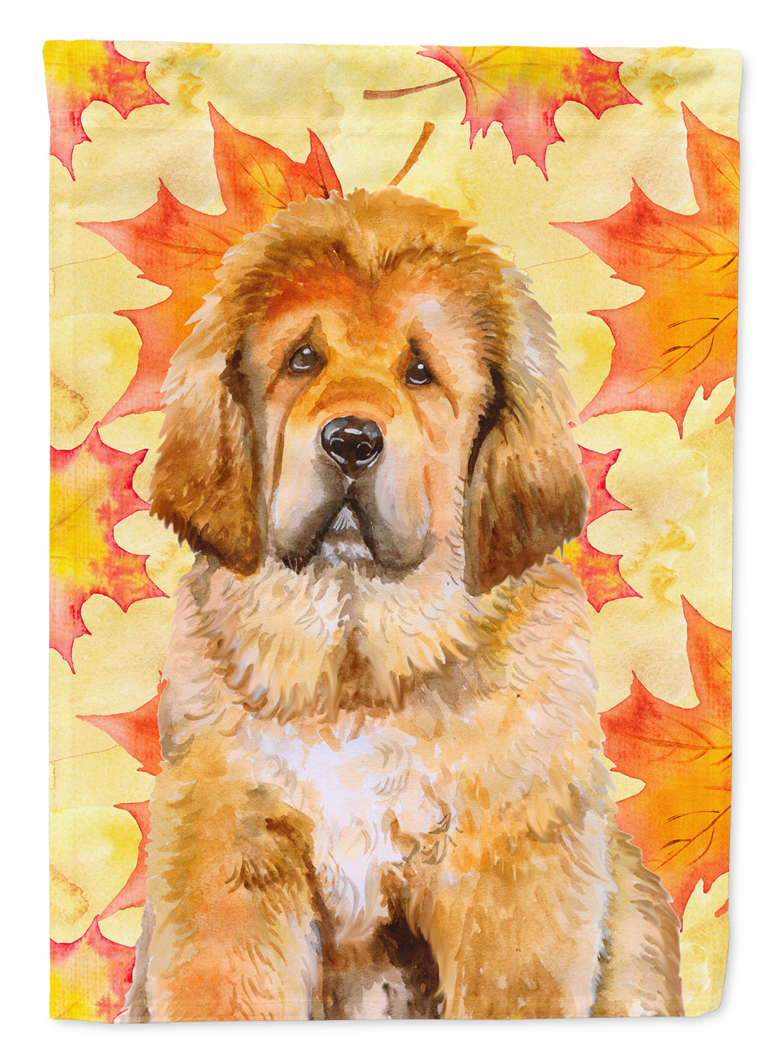 Tibetan Mastiff Fall Flag Canvas House Size BB9982CHF by Caroline's Treasures