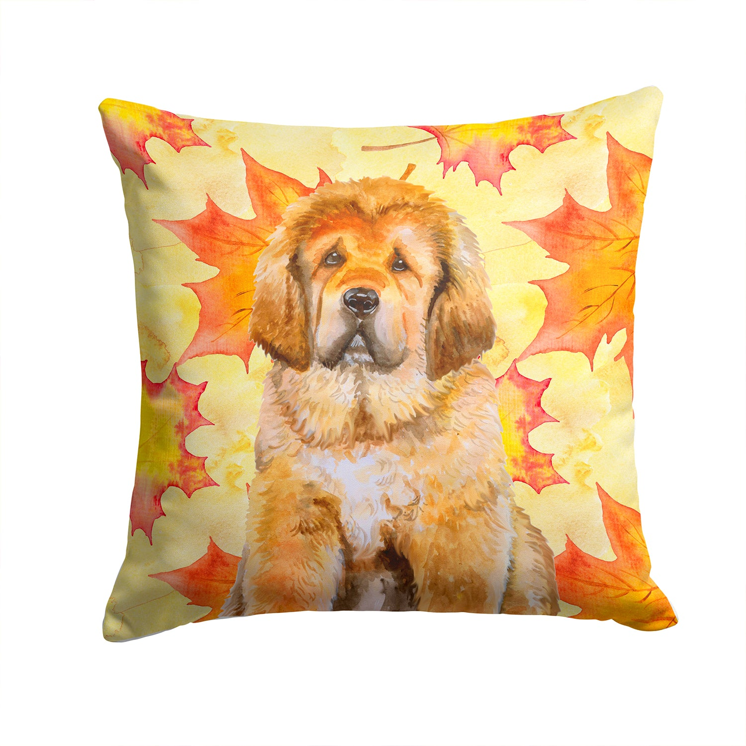 Tibetan Mastiff Fall Fabric Decorative Pillow BB9982PW1414 by Caroline's Treasures