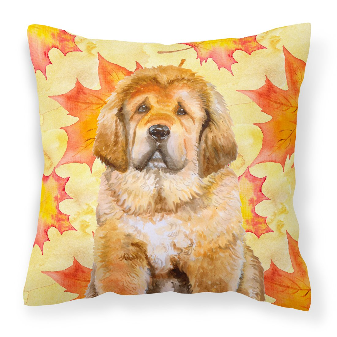 Tibetan Mastiff Fall Fabric Decorative Pillow BB9982PW1818 by Caroline's Treasures