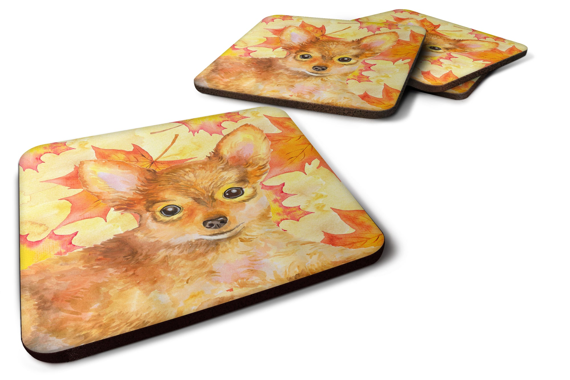 Buy this Toy Terrier Fall Foam Coaster Set of 4 BB9983FC