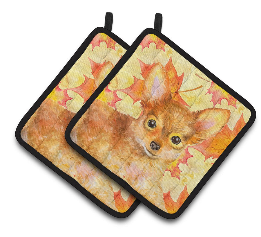 Buy this Toy Terrier Fall Pair of Pot Holders BB9983PTHD