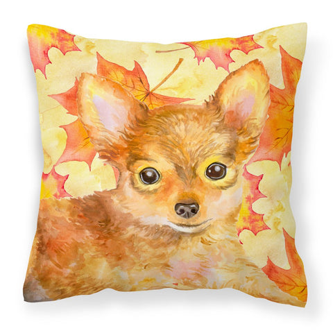 Buy this Toy Terrier Fall Fabric Decorative Pillow BB9983PW1818