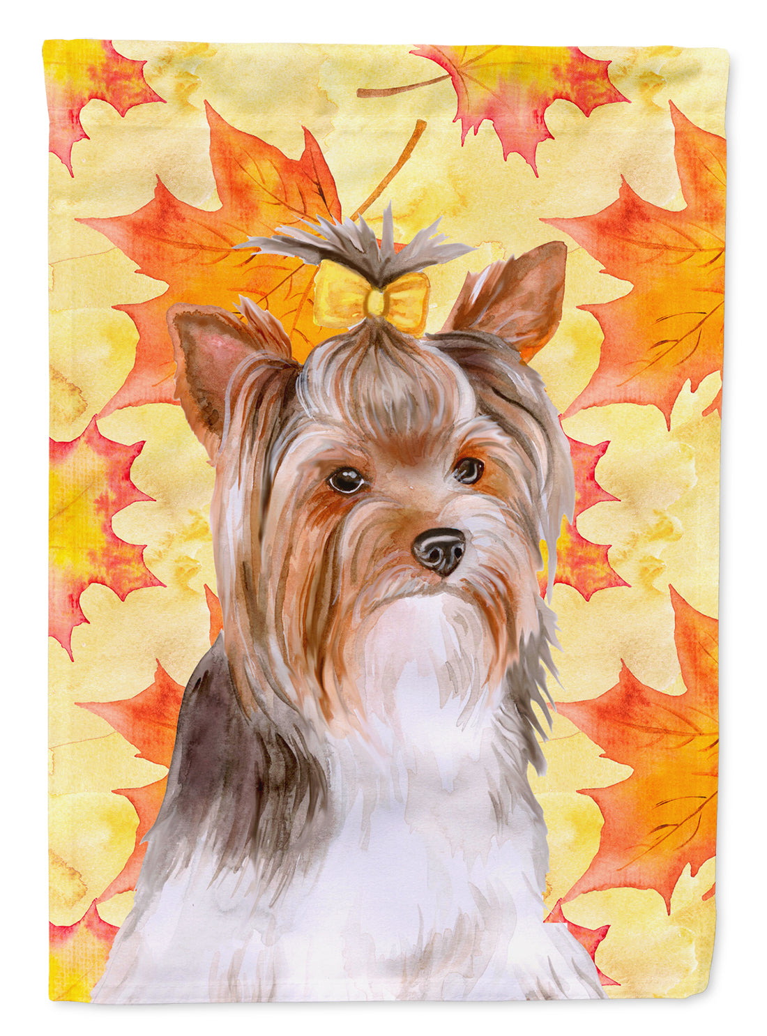 Yorkshire Terrier #2 Fall Flag Canvas House Size BB9984CHF by Caroline's Treasures