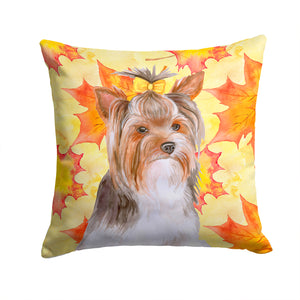 Buy this Yorkshire Terrier #2 Fall Fabric Decorative Pillow