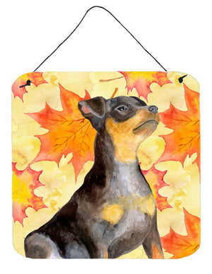 Buy this Miniature Pinscher #2 Fall Wall or Door Hanging Prints BB9985DS66