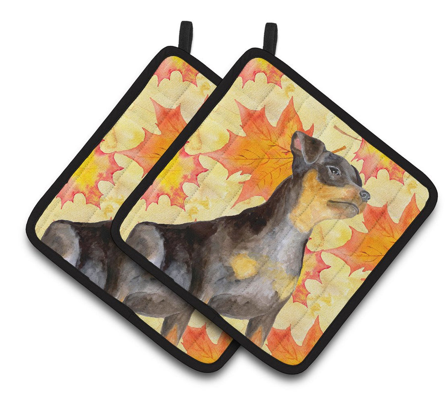 Buy this Miniature Pinscher #2 Fall Pair of Pot Holders BB9985PTHD