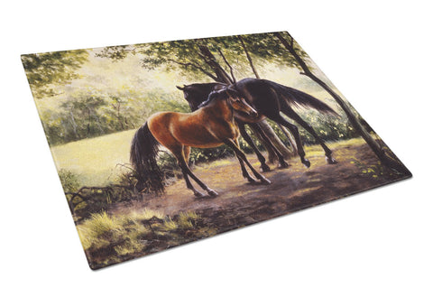 Buy this Horses by Daphne Baxter Glass Cutting Board Large BDBA0055LCB