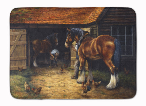 Buy this Horse and The Blacksmith by Daphne Baxter Machine Washable Memory Foam Mat BDBA0086RUG