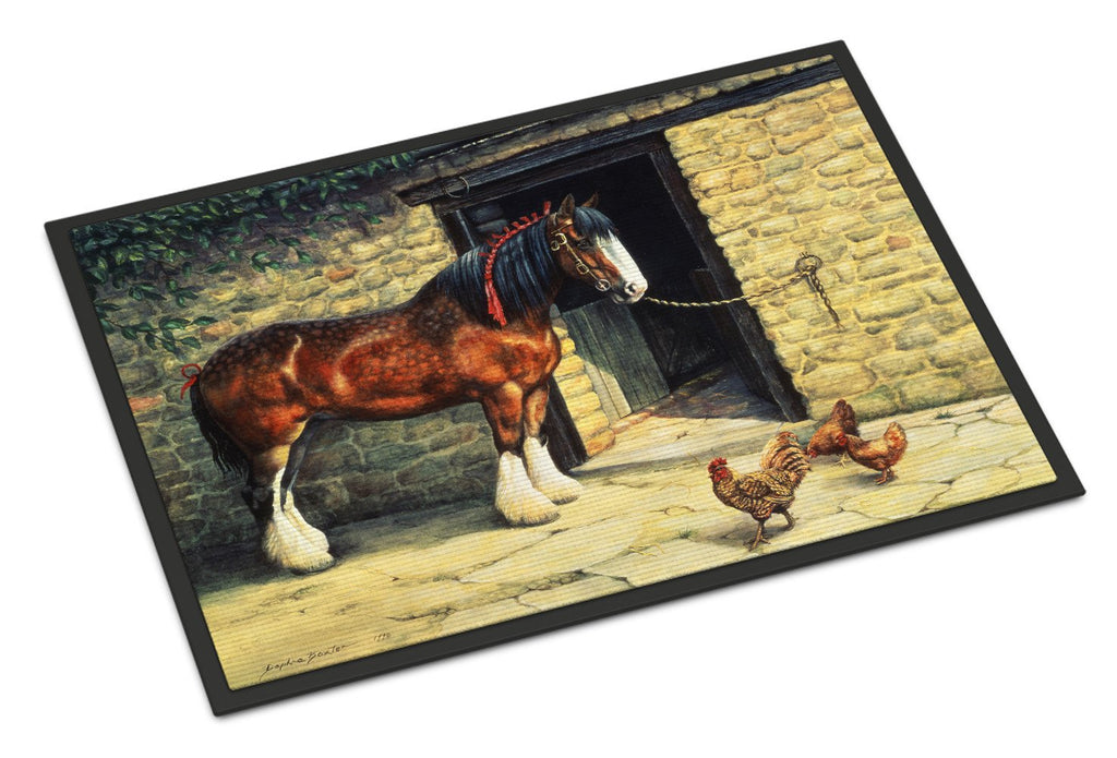 Buy this Horse and Chickens by Daphne Baxter Indoor or Outdoor Mat 18x27 BDBA0087MAT