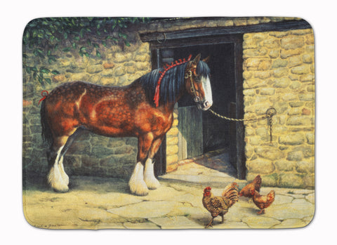 Buy this Horse and Chickens by Daphne Baxter Machine Washable Memory Foam Mat BDBA0087RUG