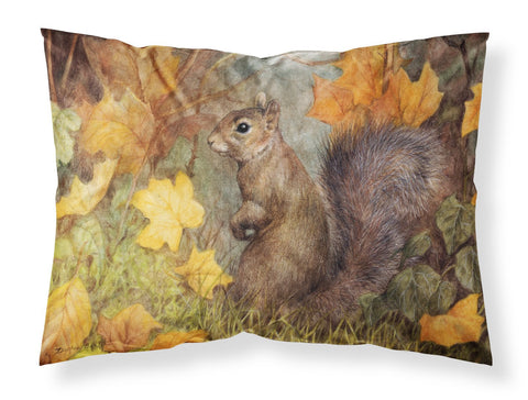 Buy this Grey Squirrel in Fall Leaves Fabric Standard Pillowcase BDBA0097PILLOWCASE